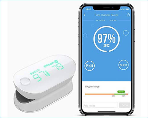 iHealth Air Wireless Fingertip Pulse Oximeter for iPhone