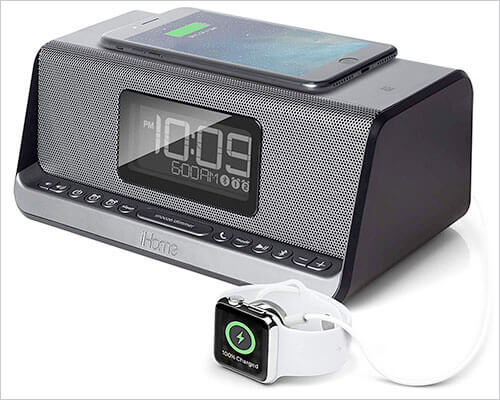 iHome iBN350 iPhone 6 and 6 Plus Clock-Radio Docking Stations