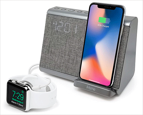 iHome iBTW39 Docking Station with Speakers for iPhone Xs, Xs Max, and iPhone XR