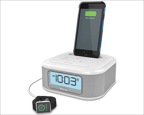 iHome iPL23 iPhone 6-6s Plus Clock Radio Docking Station