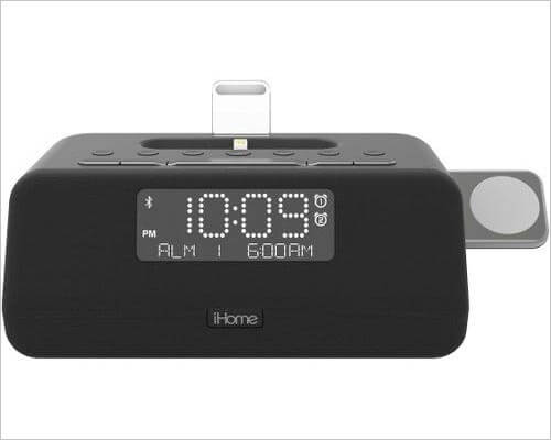 iHome iPLWBT5B iPhone and Apple Watch Docking Station with Speakers