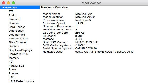 iMac and MacBook Hardware Overview