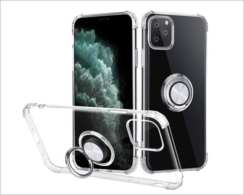 iMangoo Ultra Thin Ring Holder Case for iPhone 11 Pro