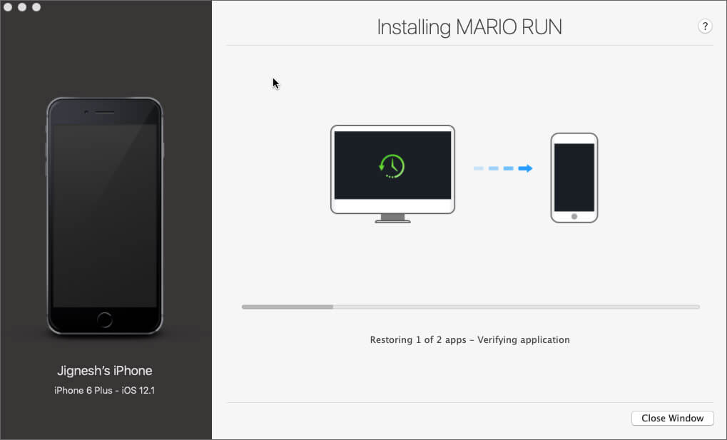 iMazing Start installing the apps on your iPhone or iPad