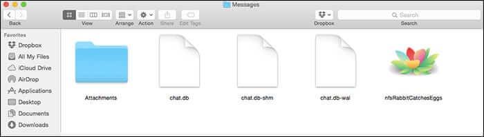 iMessage History files on Mac OS X