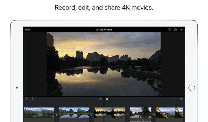 iMovie Movie Maker iPhone App Screenshot