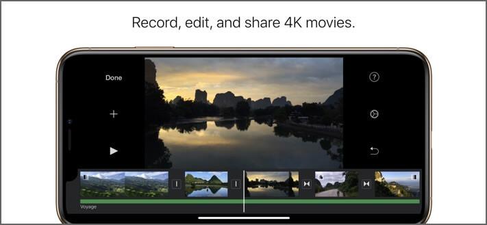 iMovie Video Editing iPhone and iPad App Screenshot