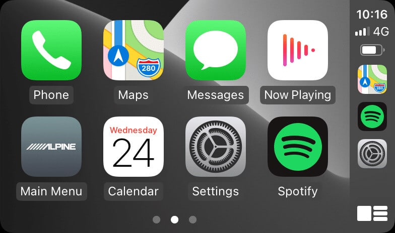 iOS 14 horizontal status bar in CarPlay