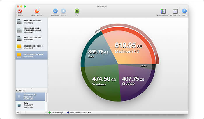 iPartition Software for Mac