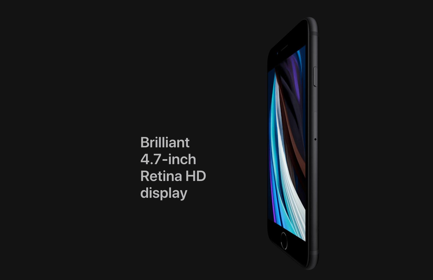iPhone SE 2020 Brilliant 4.7-inch Retina HD display