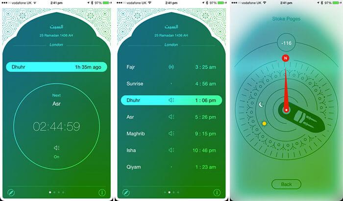 iPray Qibla iPhone and iPad App Screenshot