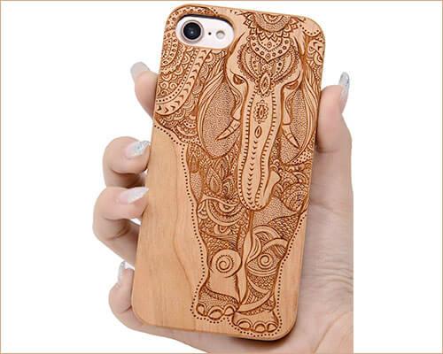 iProductsUS iPhone 8 Wooden Case