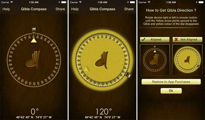 iSalam Qibla iPhone and iPad App Screenshot
