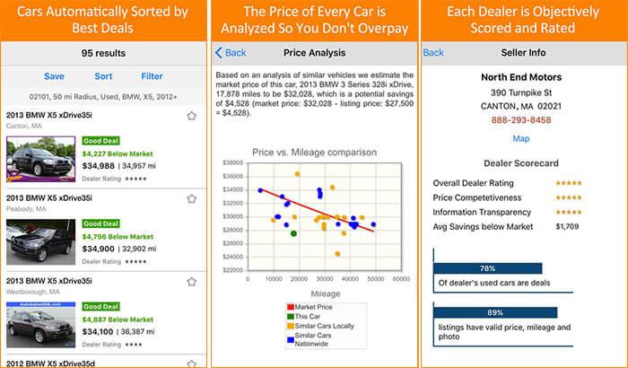 iSeeCars Used Car Search Pro iPhone and iPad App Screenshot