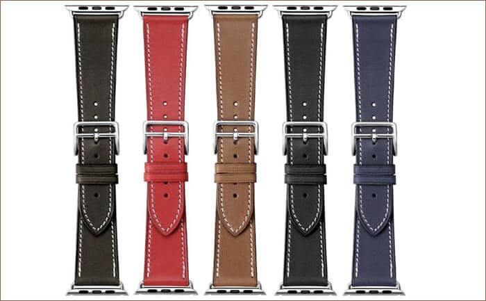 iStrap Apple Watch Leather Band Color Options