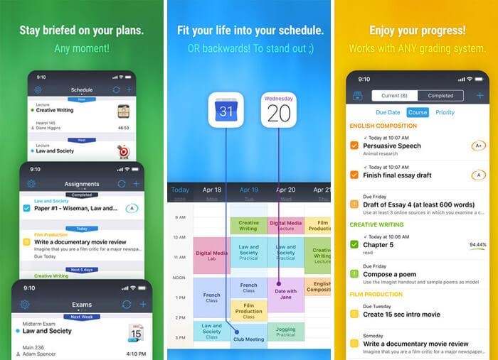 iStudiez Pro Legendary Planner iPhone and iPad App Screenshot