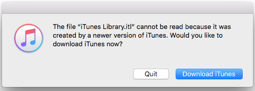 iTunes Library.itl Cannot Be Read