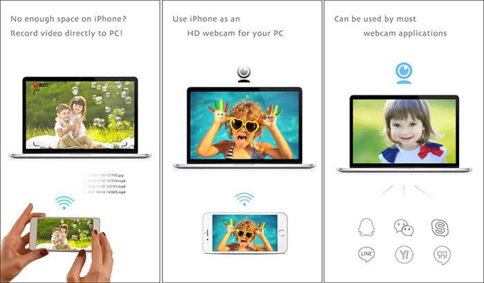 iVCam iPhone and iPad App Screenshot
