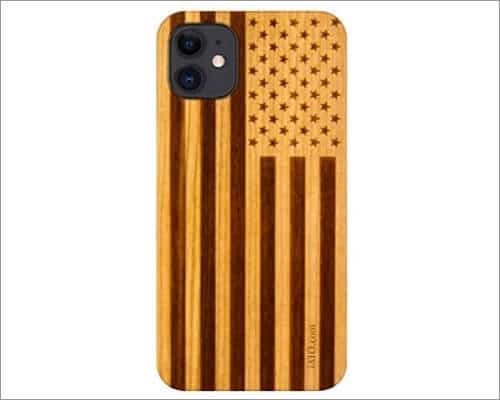 iATO Wooden Case for iPhone 12 Mini and 12 Pro Max