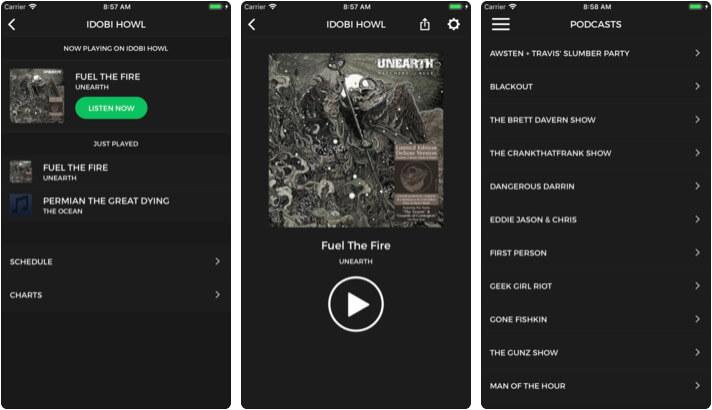 idobi iPhone and iPad Podcast App Screenshot