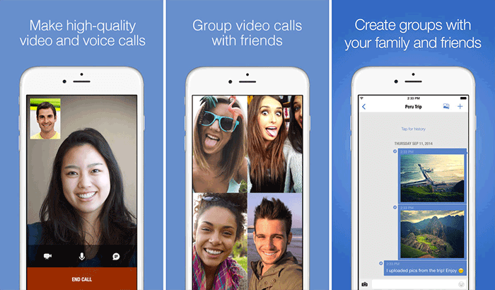 imo FaceTime Alternative iPhone App Screenshot