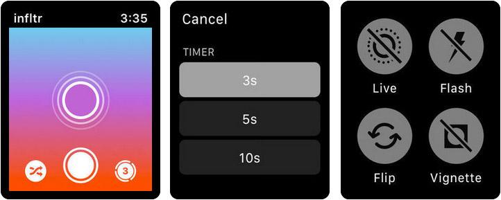 infltr Infinite Filters Apple Watch Photos App Screenshot