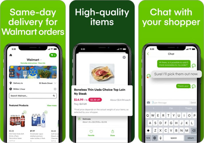 instacart grocery delivery iphone and ipad app screenshot