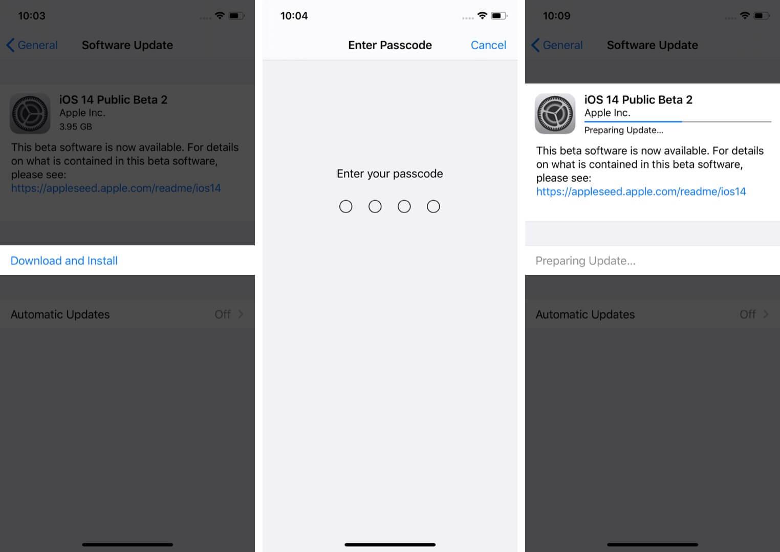 install ios 14 public beta on iphone