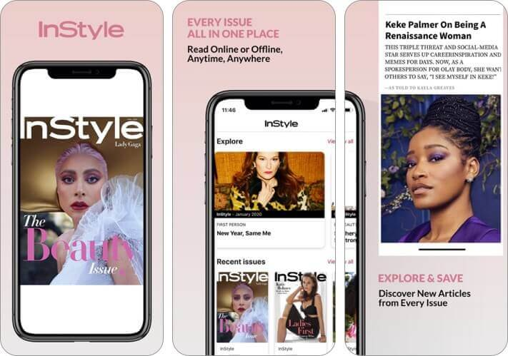instyle magazine iphone and ipad fashion app screenshot