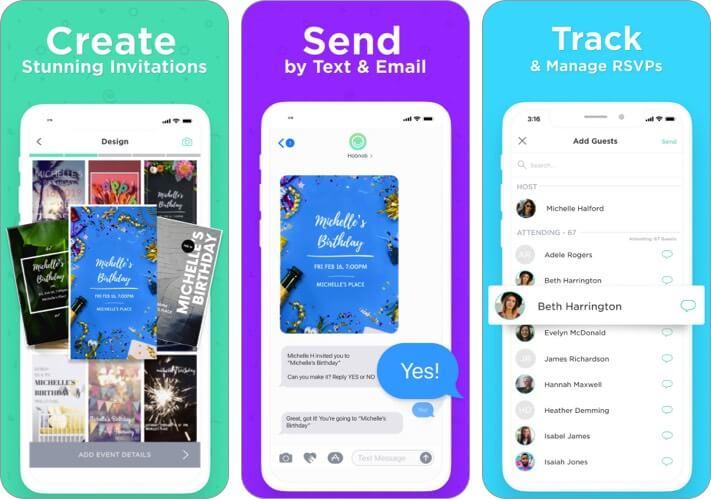 Invitation Maker by Hobnob iPhone and iPad App Screenshot