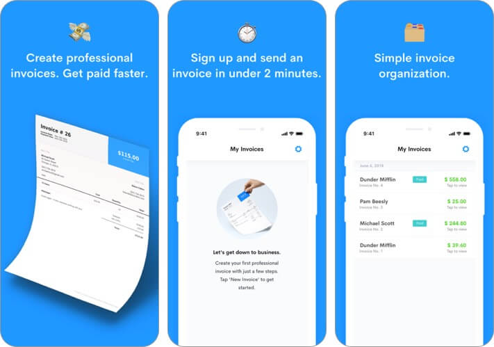 invoice maker by northone iphone and ipad app screenshot