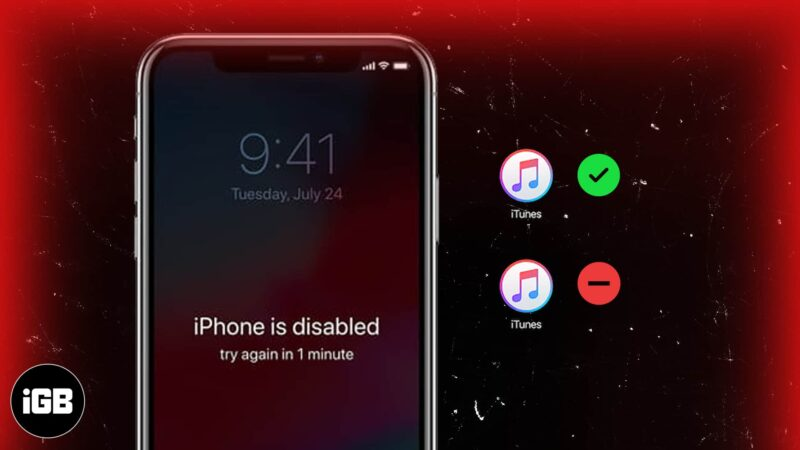 iphone is disabled