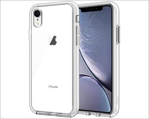 jetech clear bumper case for iphone xr