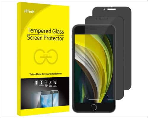 jetech iphone se 2020 privacy screen protector