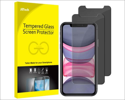 jetech privacy screen protector for iphone xr