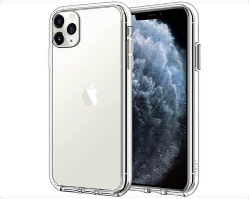 jetech shockproof transparent cover for iphone 11 pro