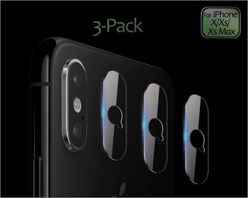 jingoobon thin camera lens protector for iphone xs and xs max