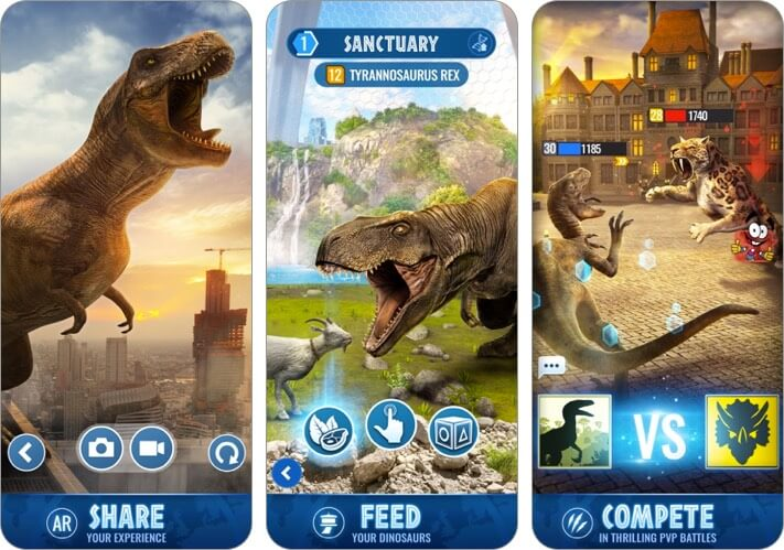 jurassic world alive iphone game
