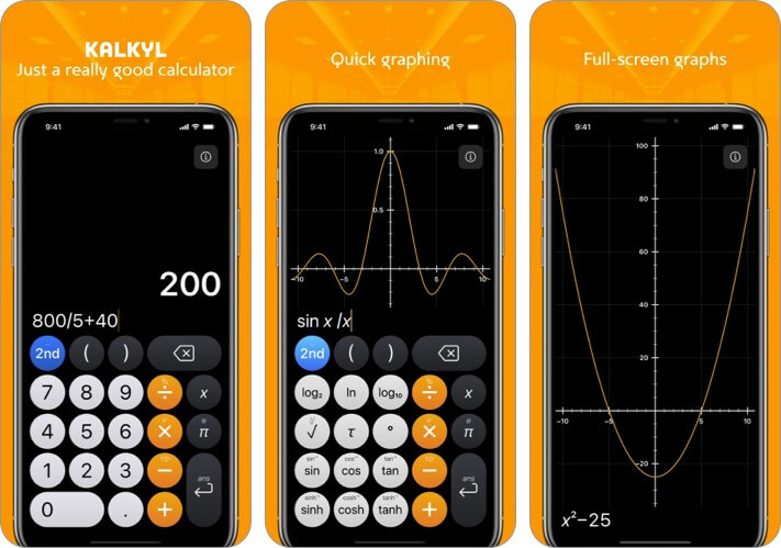 Kalkyl iPhone and iPad Calculator App Screenshot