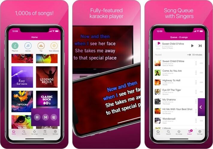 karafun iphone and ipad karaoke app screenshot
