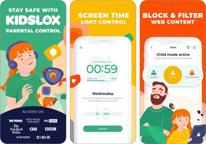 Kidslox iPhone and iPad Parental Control App Screenshot