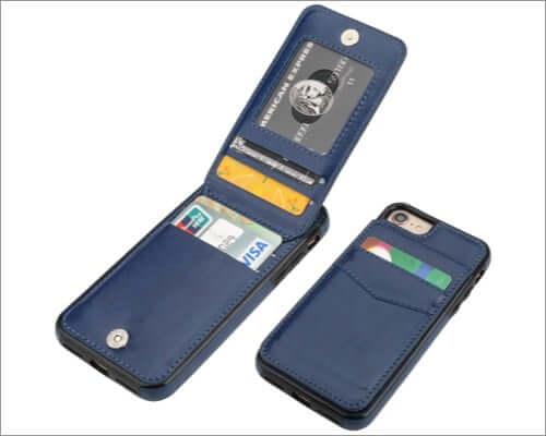 kihuwey card holder case for iphone se 2020