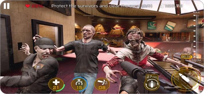 Kill Shot Virus iPhone and iPad Zombie Game Screenshot