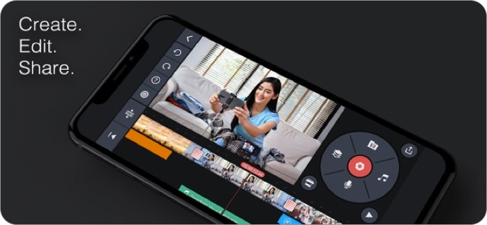 kinemaster iphone and ipad video editing app screenshot