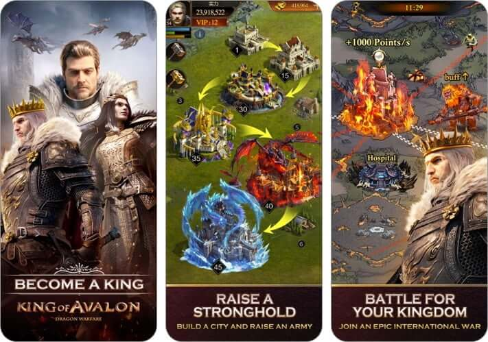 king of avalon dragon warfare multiplayer role playing iphone and ipad game screenshot