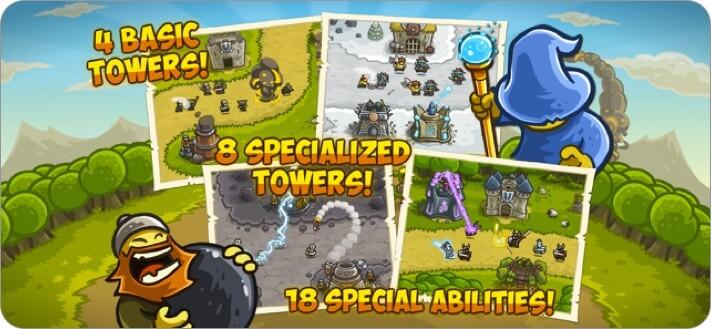 kingdom rush iphone and ipad tower defense game screenshot
