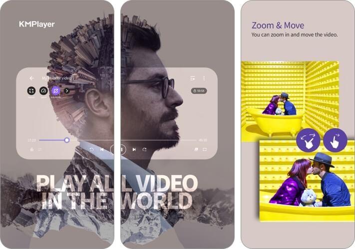 km player iphone and ipad video player app screenshot