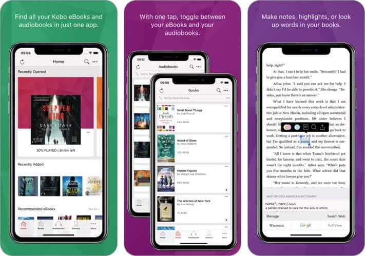 kobo iphone app screenshot