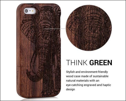 kwmobile Wooden Case for iPhone SE