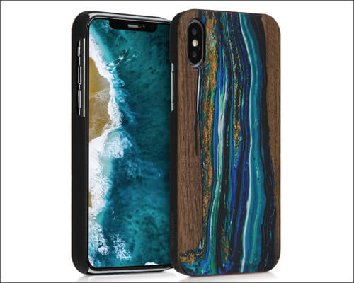 kwmobile iPhone X Wooden Case